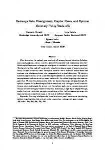 Exchange Rate Misalignment, Capital Flows, and Optimal Monetary ...