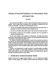 Existence of Nontrivial Equilibria in an Intermediation ...
