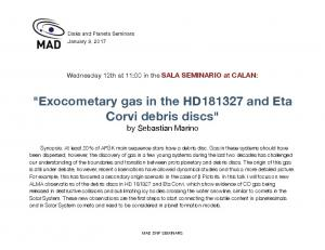 Exocometary gas in the HD181327 and Eta Corvi ... -