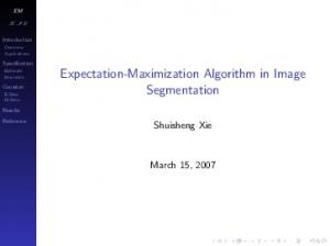 Expectation-Maximization Algorithm in Image ...