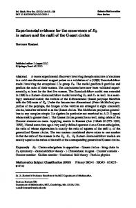 Experimental evidence for the occurrence of E 8 in nature and the radii ...