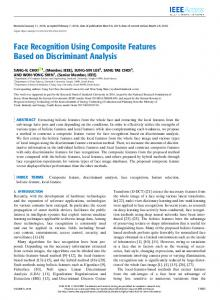 Face Recognition Using Composite Features Based on ...