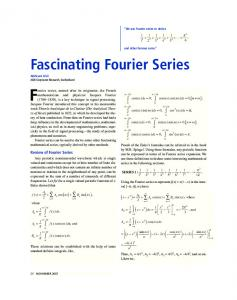 Fascinating Fourier Series
