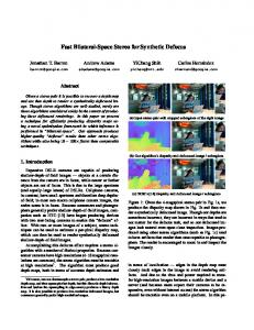 Fast Bilateral-Space Stereo for Synthetic Defocus - Andrew Adams