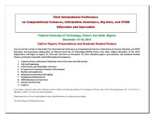 Federal University of Technology, Owerri, Imo State ...  ...
