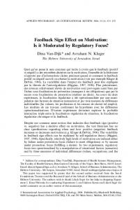 Feedback Sign Effect on Motivation: Is it ... - Wiley Online Library