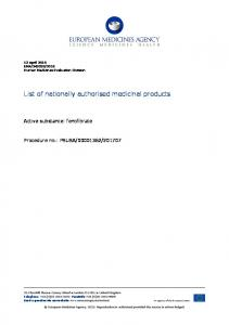 fenofibrate - List of nationally authorised medicinal products - PSUSA ...