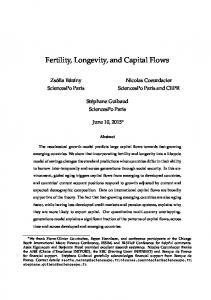 Fertility, Longevity, and Capital Flows - Ensai