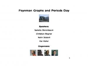 Feynman Graphs and Periods Day