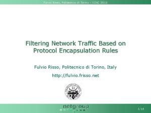 Filtering Network Traffic Based on Protocol ... - Fulvio Risso