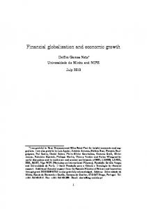Financial globalization and economic growth