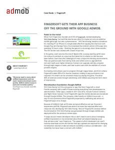 FinGersOFT GeTs Their APP BUsiness off the ...  Services