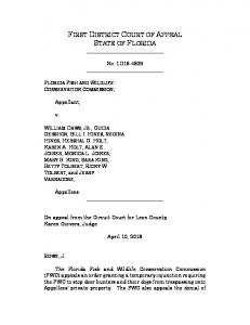 first district court of appeal state of florida - Inverse Condemnation