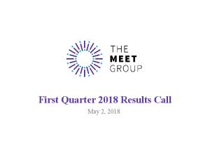 First Quarter 2018 Results Call - The MEET Group
