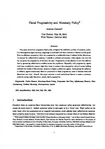 Fiscal Progressivity and Monetary Policy