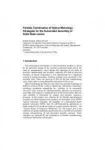Flexible Combination of Optical Metrology Strategies for ...