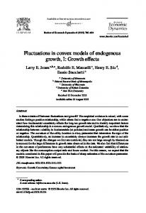 Fluctuations in convex models of endogenous growth, I - CiteSeerX