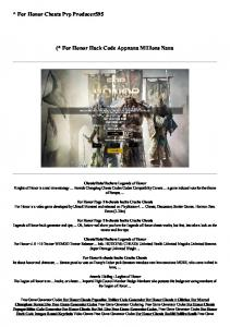 For Honor Cheats Pvp Producer595 - PDFKUL.COM