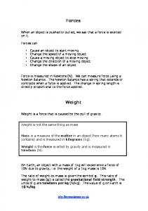Forces Weight