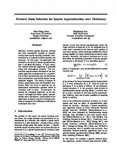 Forward Basis Selection for Sparse Approximation over ...