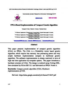 FPGA Based Implementation of Compact Genetic ...