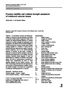 Fracture stability and residual strength assessment of ... - Springer Link