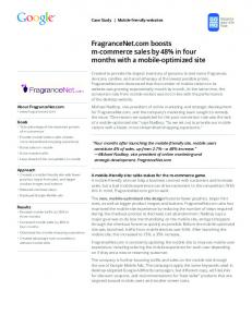FragranceNet.com boosts m-commerce sales by 48 ...  services