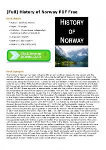 [Full] History of Norway PDF Free