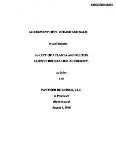 Fully Executed - Purchase and Sale Agreement (Turner Field ...