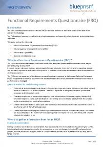Functional Requirements Questionnaire (FRQ) Overview.pdf ...