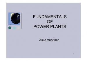 FUNDAMENTALS OF POWER PLANTS