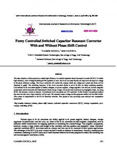 Fuzzy Controlled Switched Capacitor Resonant ...