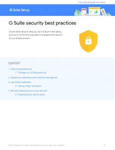 G Suite security best practices