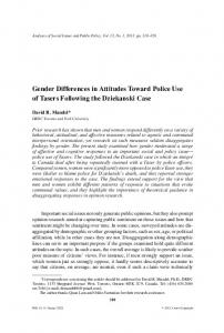 Gender Differences in Attitudes Toward Police ... - Wiley Online Library