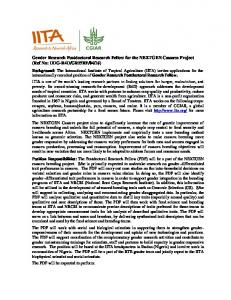 Gender Research Postdoctoral Research Fellow for the ... - IITA