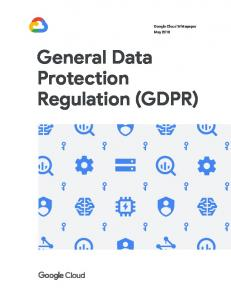 General Data Protection Regulation (GDPR)  services