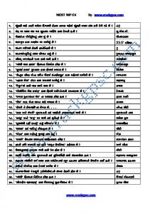 General Knowledge 2015 Pdf In Gujrati