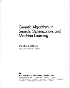 Genetic Algorithms in Search Optimization and Machine Learning by ...