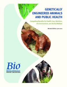 genetically engineered animals and public health - Biotechnology ...