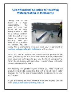 get-affordable-solution-for-rooftop-waterproofing-in-melbourne.pdf ...