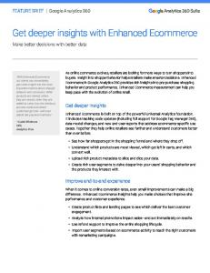 Get deeper insights with Enhanced Ecommerce  Services