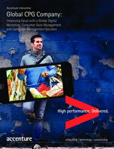 Global CPG Company | Accenture