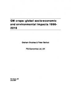 global socio-economic and environmental impacts 1996 ... - Agro-Bio