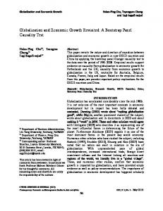 Globalization and economic growth revisited-A bootstrap panel ...
