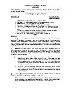 G.O.40 , 18 th JUNE GUIDELINES FOR ... - dasu info system