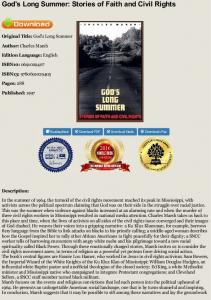 God's Long Summer: Stories of Faith and Civil Rights ...