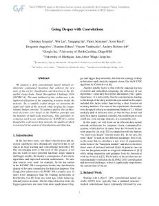 Going Deeper With Convolutions - UNC CS