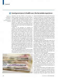 Good governance in health care the Karnataka experience.pdf ...