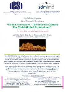 Good Governance - The Supreme Mantra For Multi ... -
