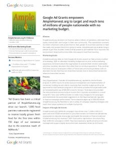 Google Ad Grants empowers AmpleHarvest.org to target and reach ...